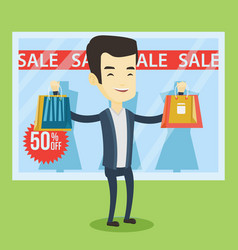 man shopping on sale vector image