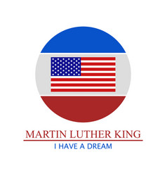 martin luther king vector image