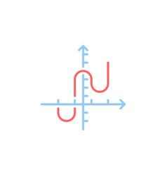 math graph concept colored icon or symbol vector image