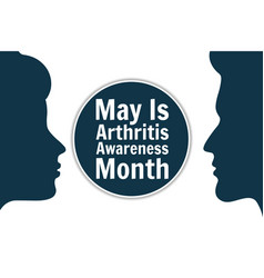 May is national arthritis awareness month holiday vector