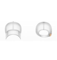 mockup blank white baseball cap vector image