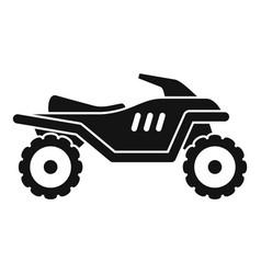 Motocross quad bike icon simple style vector