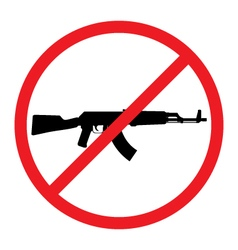 No Guns Allowed Sign No Weapons Sign vector