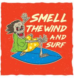 Original surfing poster vector