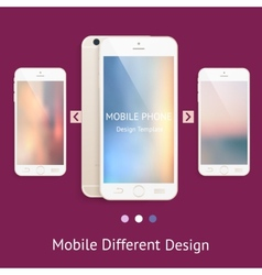 Phone mock up for your design vector
