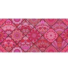 Pink Tiles Boho Pattern vector