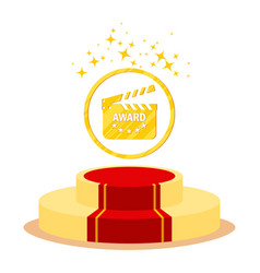 podium for cinema award vector image