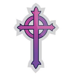 purple presbyterian cross on a white background vector image