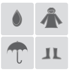 rain elements icons vector image