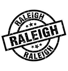 Raleigh black round grunge stamp vector