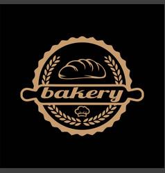 retro vintage bread bakery shop stamp label logo vector image
