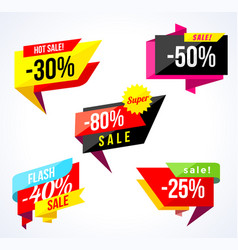 sale banner collection colored stickers and vector image vector image