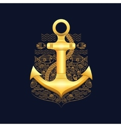 Sea anchor vector