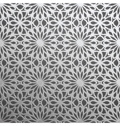 Silver geometric 3d seamless pattern vector image