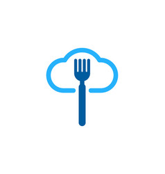 Sky food logo icon design vector