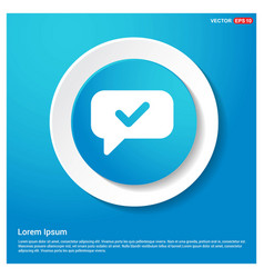 speech bubble icon abstract blue web sticker vector image