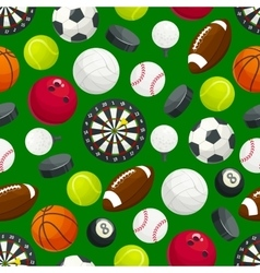 Sports gaming ball items seamless pattern vector image
