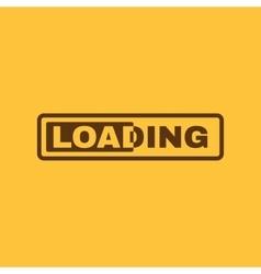 The loading icon preloader symbol Flat vector
