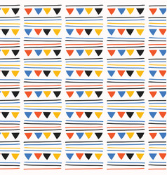 triangle party bunting garland seamless vector image