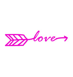 typography word love starts vector image