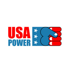 Usa power patriot fist emblem sign of strong vector