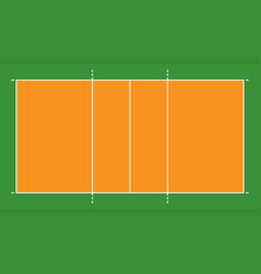 volleyball court from top view flat design vector image