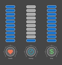 Volume design concept work and life no money vector