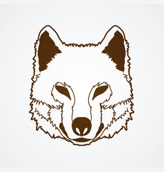 Wolf face front view fox head vector