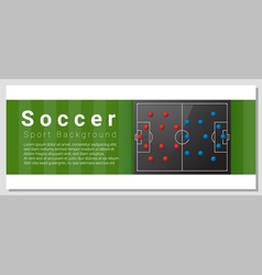 Football field graphic background 5 vector image