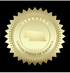 Gold star label Nebraska vector image vector image