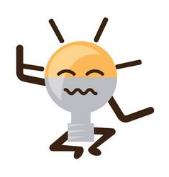 kawaii light bulb icon vector image vector image