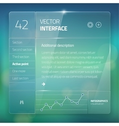 Modern user interface screen template for mobile vector image vector image