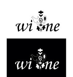 vine or wine logo vector image vector image