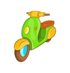 Scooter motorbike icon cartoon style vector image