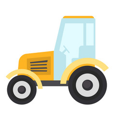 tractor icon flat style vector image vector image