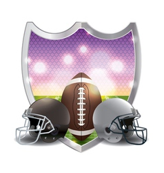 American Football and Helmets Badge Emblem vector image