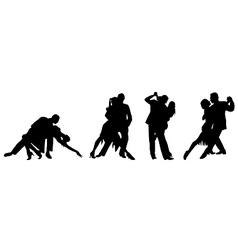 Couple dancing the tango vector image vector image