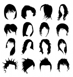 hair design vector image vector image