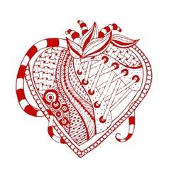 hand drawn abstract heart vector image vector image