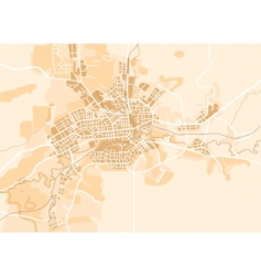 vector map of the city vector image vector image