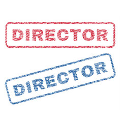 Director textile stamps vector