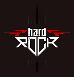 Hard Rock badge - original lettering with vector image vector image