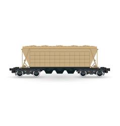 hopper car cargo wagon isolated vector image vector image