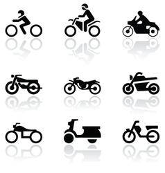 motorbike symbol set vector image vector image
