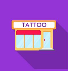 Tattoo salon building parlor icon flate single vector