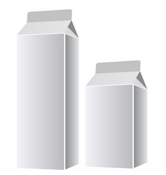 white paper packaging vector image