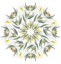 Abstract botanical nature ornament vector image