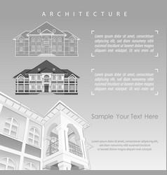 Architectural plan building vector