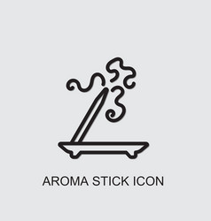 Aroma stick icon vector