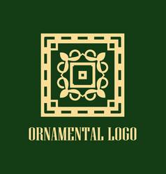 art deco vintage logo vector image